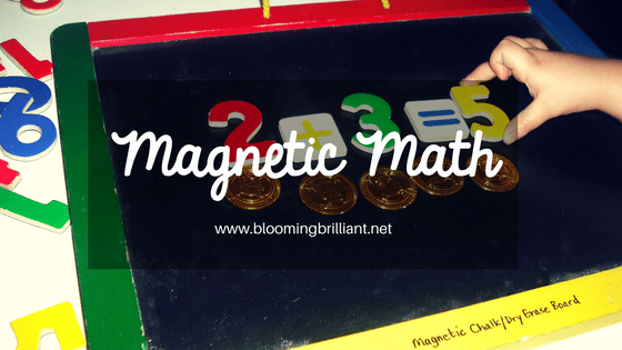 Magnetic Math- Fun manipulatives that help teach little kids to love math.