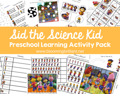 Sid the Science Kid Preschool Learning Activity Pack