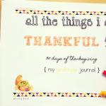 30 Days of Thanksgiving-Thanksgiving Journal