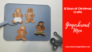 12 Days of Christmas Crafts- Gingerbread Man Craft for Kids