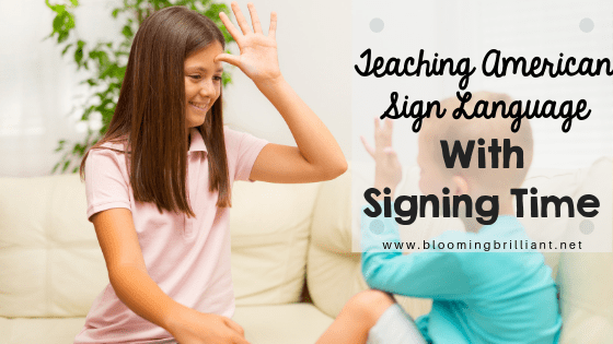 Teaching American Sign Language with Signing Time