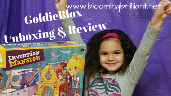 Amazing STEAM toy for kids especially girls GoldieBlox Invention Mansion