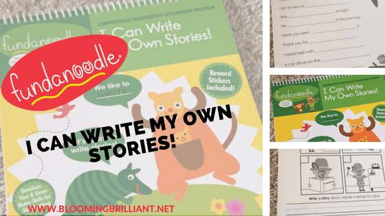 In I Can Write My Own Stories! children learn to form words and sentences