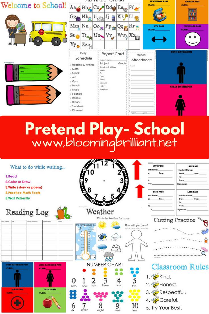 Pretend Play School Set