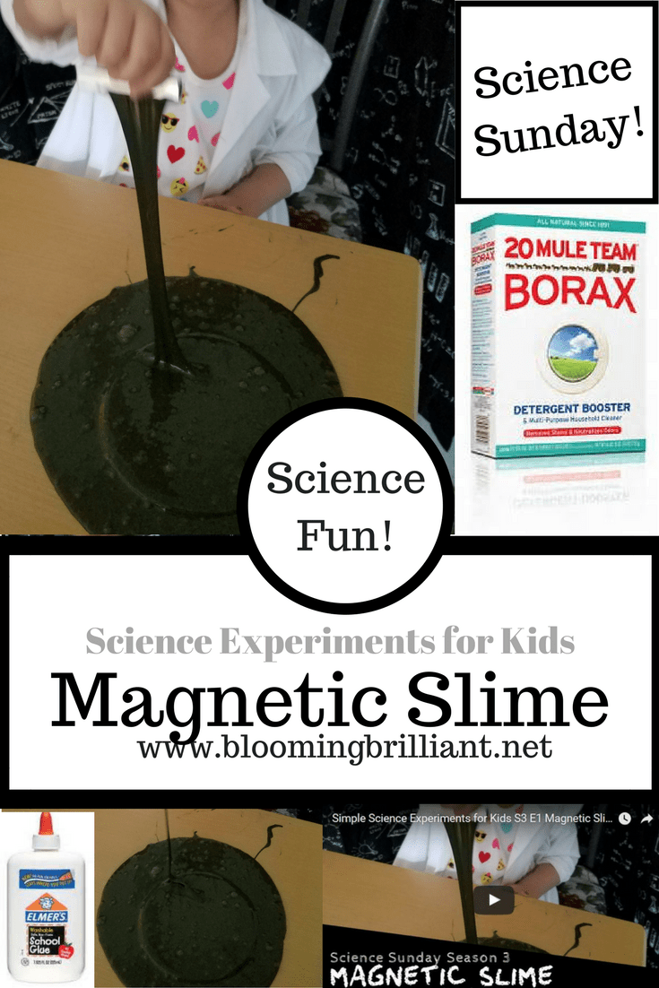 Science Sunday Explore Magnetic Slime in another Super Simple Experiment for Children. Your kids will love this DIY Magnetic Slime.