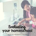 Evaluating Your Homeschool