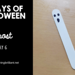 Halloween Ghost Bookmark Craft