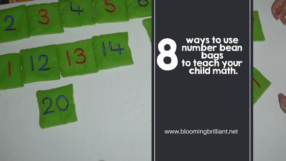 8 ways to use number bean bags to teach your child math.