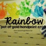 Rainbow Pot of Gold Handprint Craft