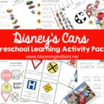 DISNEY CARS PRESCHOOL LEARNING ACTIVITY PACK