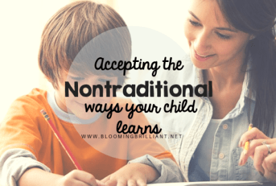 Accepting Nontraditional Ways Your Child Learns