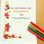 30 Days of Thanksgiving- Thankful Journal