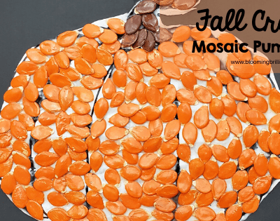 Fall Craft Mosaic Pumpkin