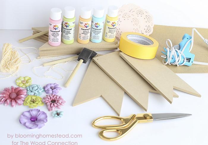 Spring Floral Banner Supplies