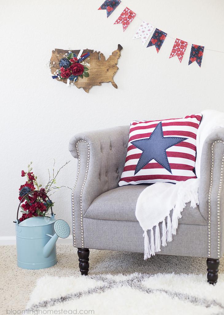 DIY Wood Floral USA Sign