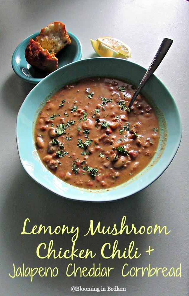 Lemony Mushroom Chicken Chili
