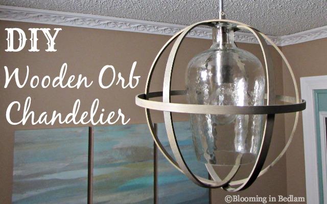 DIY Wooden Orb CHandelier