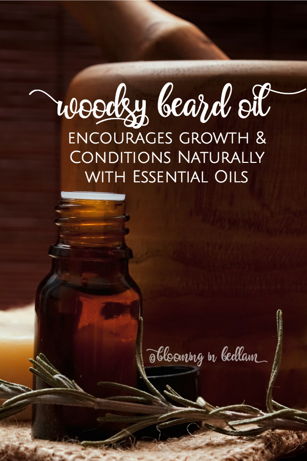 Make this Woodsy DIY Beard Oil recipe to promote growth and condition beards naturally with essential oils. This makes a great DIY gift for men because he will smell like a lumber jack and grow the best beard- Husband approved! Natural skin care and personal care products are for guys too! #seasonalskincare #winterskincare #nontoxicskincare #naturalskincare #beardoil #diyskincare #diybeardoil #essentialoils #movember #noshavenovember