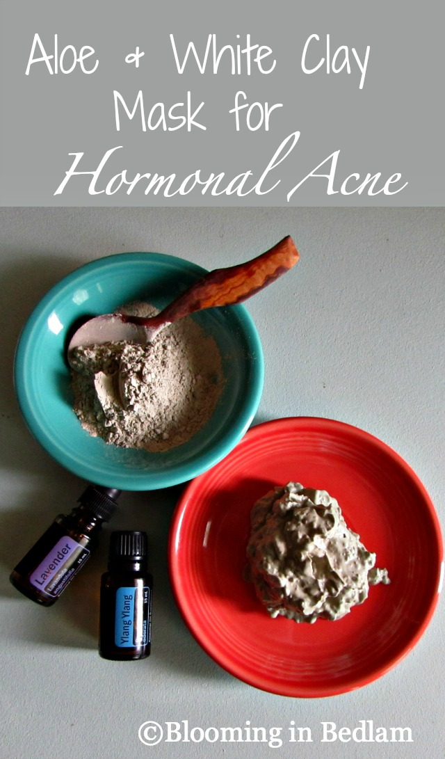 Aloe & White Clay Mask for hormonal acne with essential oils