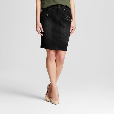 Women's Pencil Skirt with Zips Black - Mossimo TARGET $19.99
