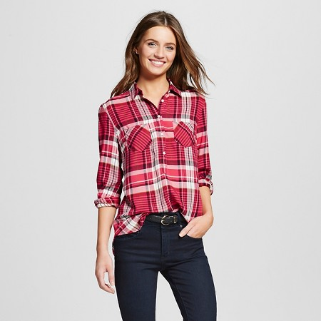 Women's Plaid Favorite Shirt - Merona TARGET $22.99