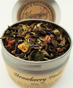 strawberry fields tea blooming with joy