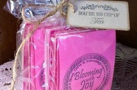 pink loose tea sampler