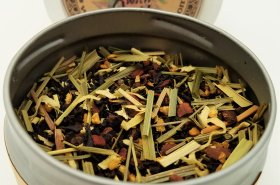 spicy caribbean tea blooming with joy