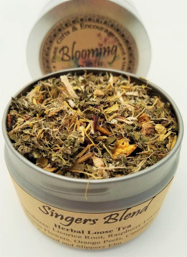 singers blend tea blooming with joy