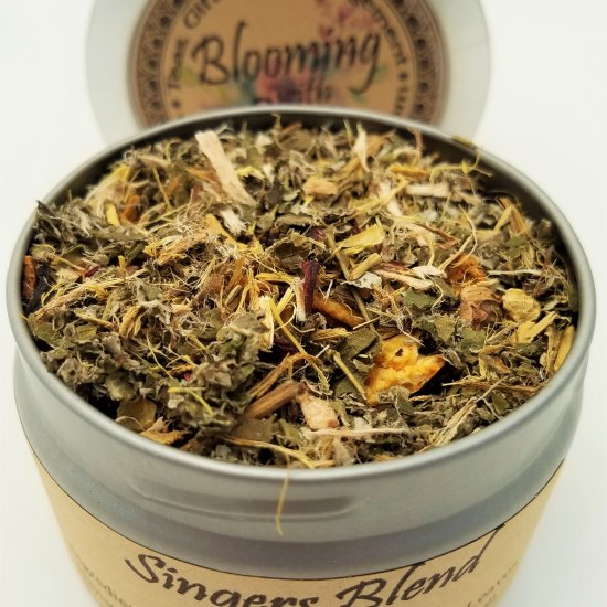 singers blend tea blooming with joy