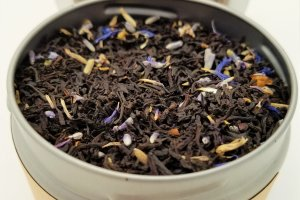 lady grey tea blooming with joy