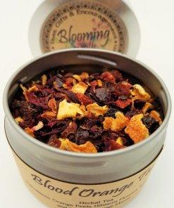 blood orange tea blooming with joy