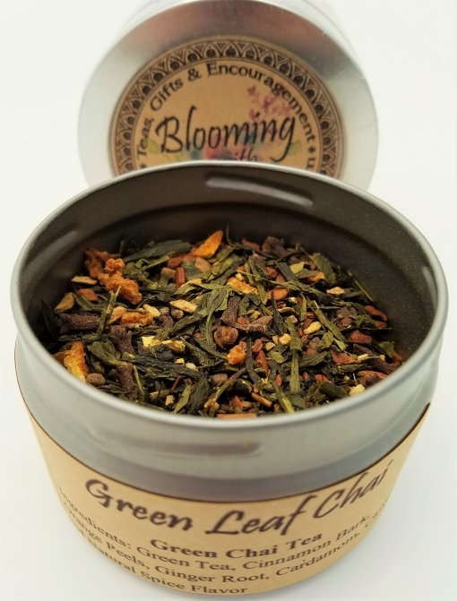 green leaf chai blooming with joy