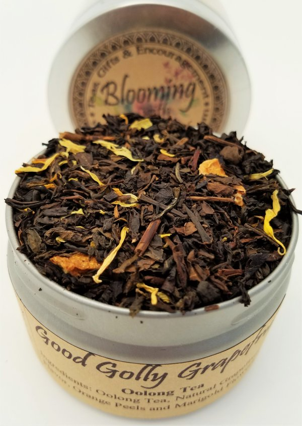 good golly grapefruit tea blooming with joy