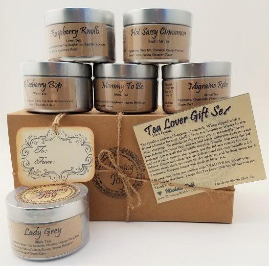 6 loose tea tin gift set