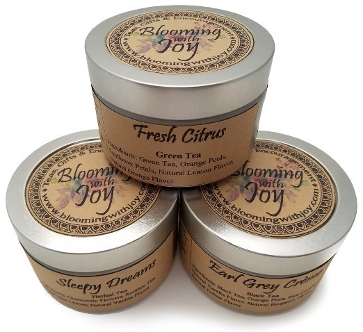 blooming with joy loose tea tin 3 for $20