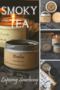 Smoky Bonfire Black loose tea pinterest pin