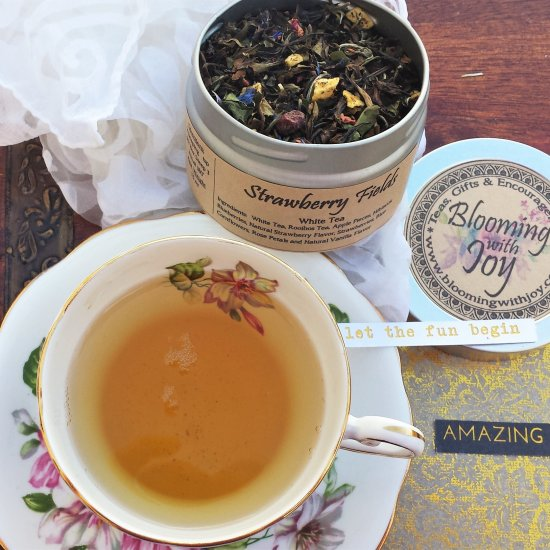 strawberry fields rose tea