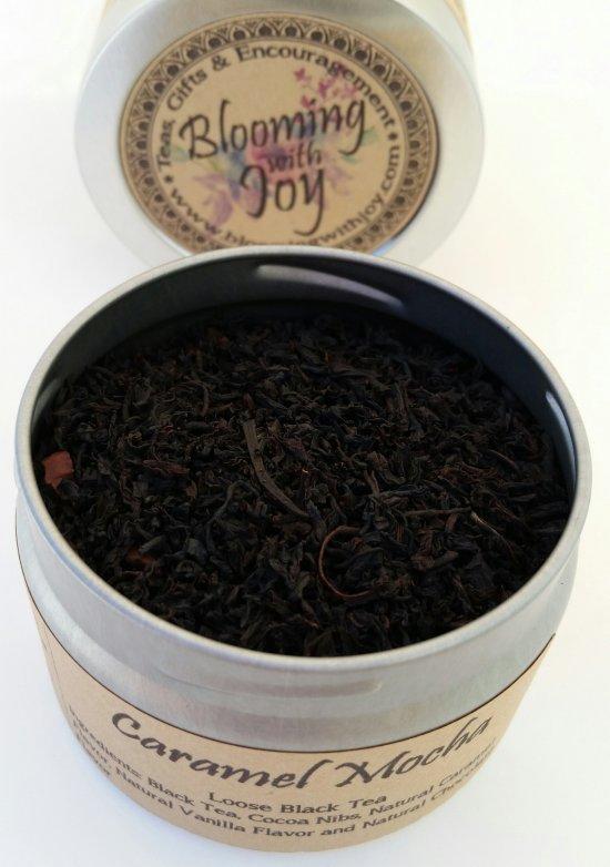 caramel mocha organic loose black tea