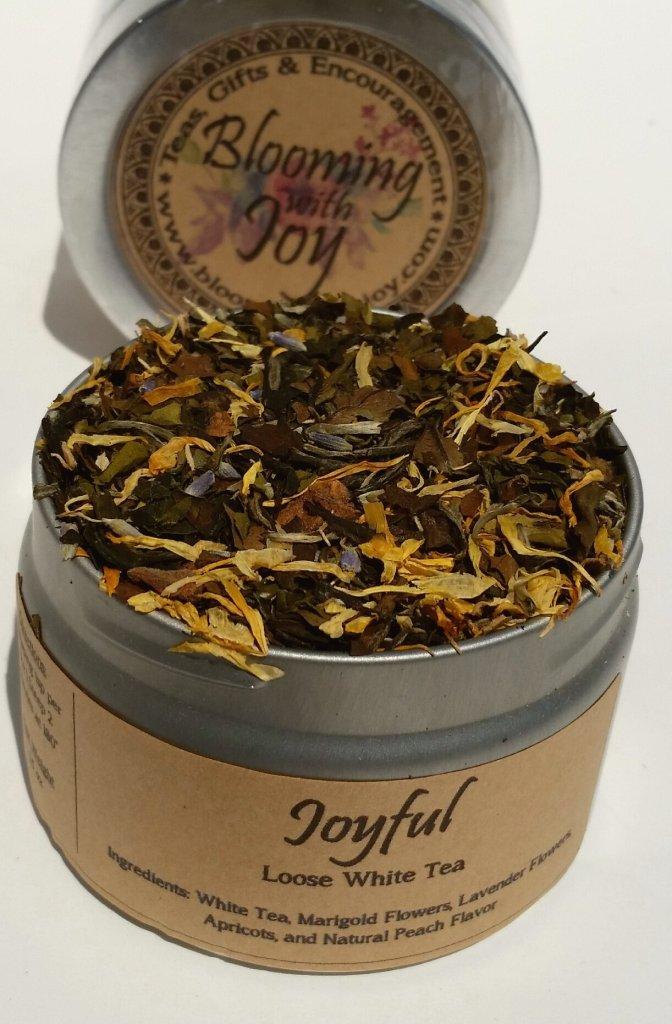 joyful white loose tea