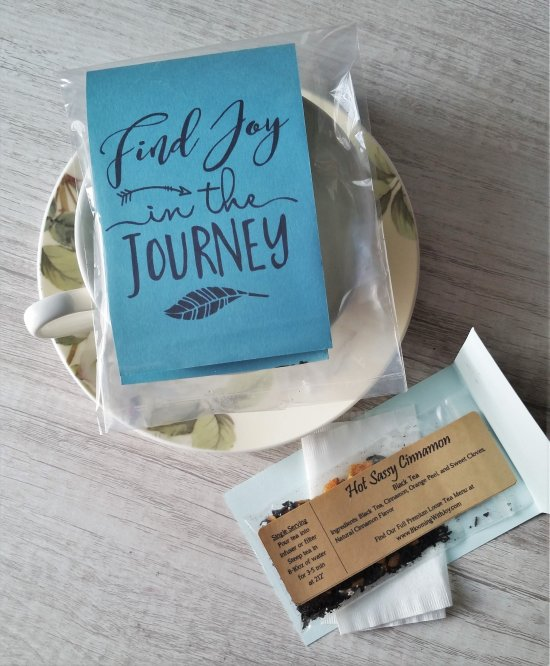 Find Joy in the Journey tea sampler gift
