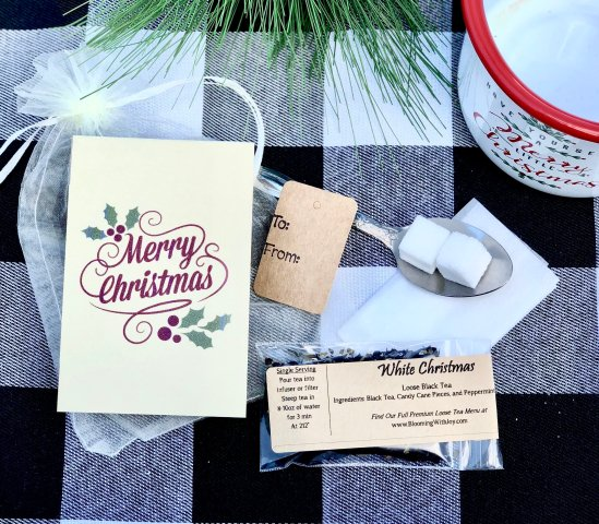 Merry Christmas Tea Favor Gifts