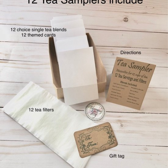 Blooming With Joy 12 Tea Single Sampler