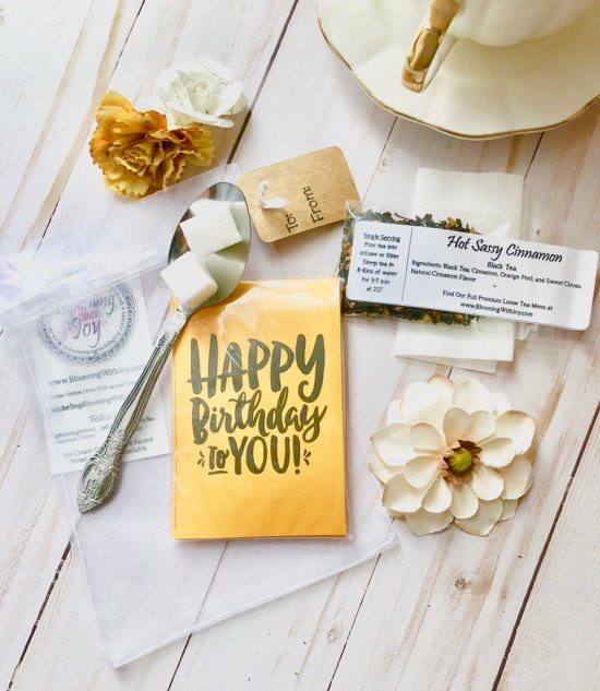 Happy Birthday Tea Party Favors