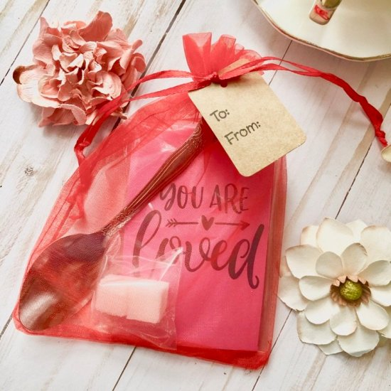 You are loved valentine tea favor