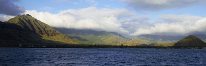 Mountains of Oahu's west shore