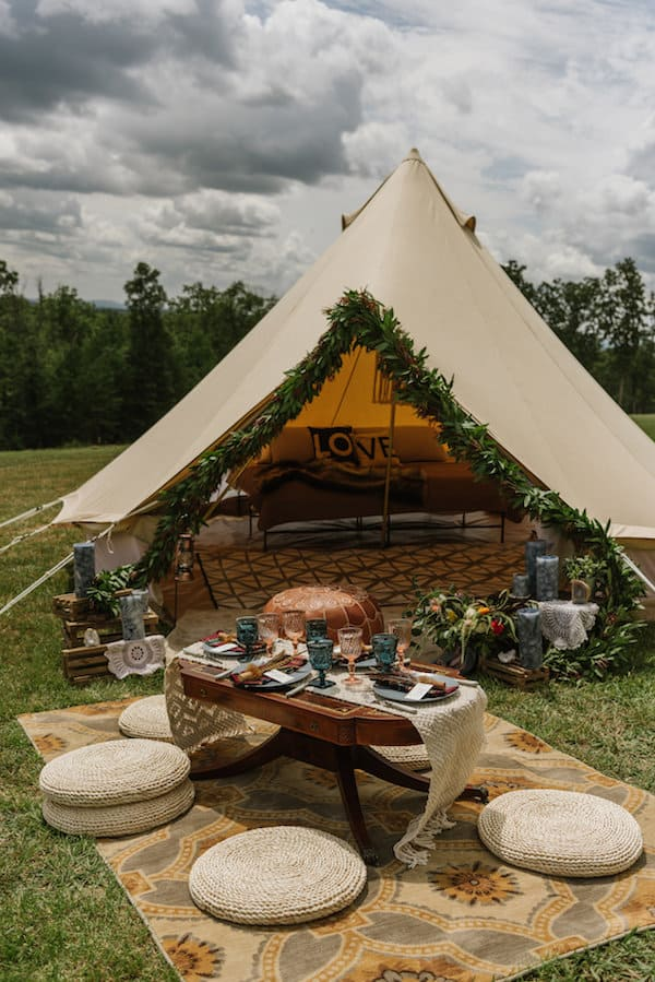 Bohemian Glamping Wedding Featured On The Perfect Palette
