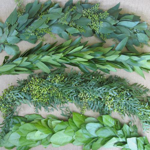 Garland Single Green 8 Feet Wholesale Blooms By The Box