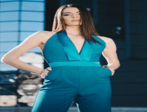 model wearing a jumpsuit