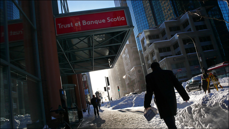After the snowstorm. Downtown, December 2007.